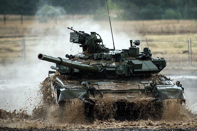 ruský tank T90 vybavený systémem Štora